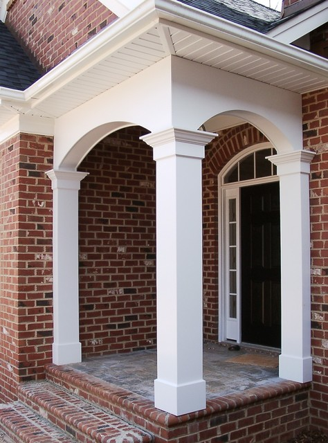 Porch columns traditional entry other by for Portico entrance with columns