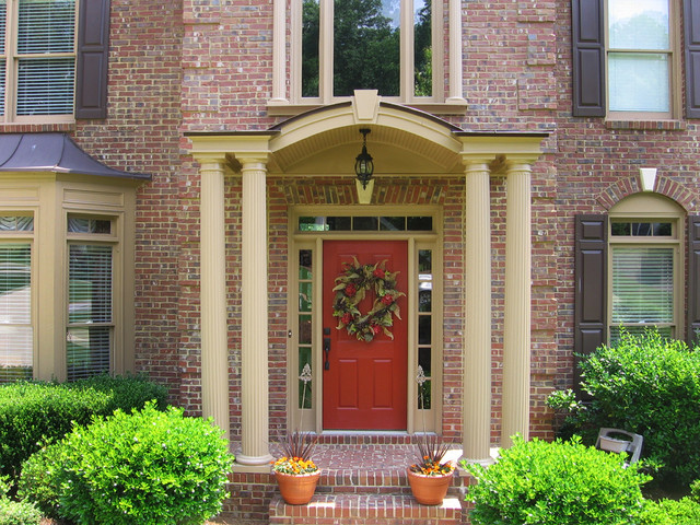 Portico ideas traditional entry atlanta by georgia for Georgia front porch