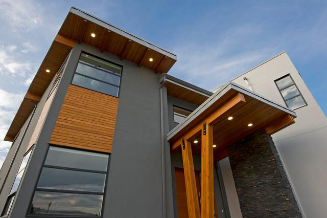 Prairie Rose Residence contemporary-entry