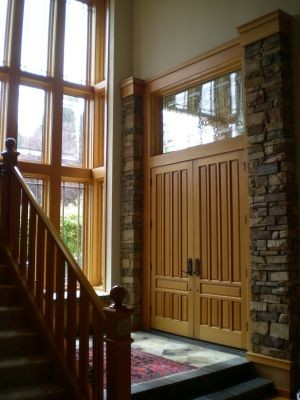 Prairie Style contemporary-entry
