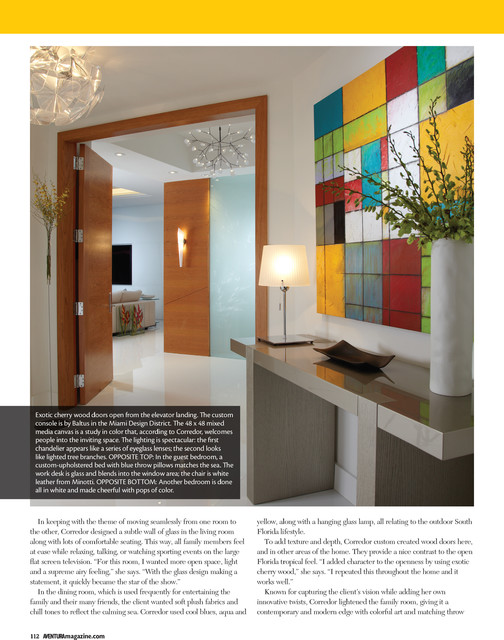 Press j design group projects in aventura magazine for Miami interior design magazine