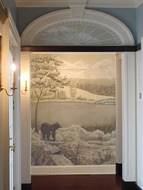 Elegant entryway photo in New York
