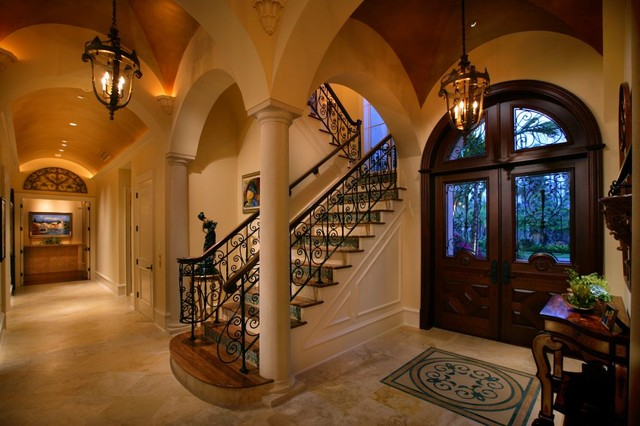 Private Residence Naples Florida Mediterranean Entry