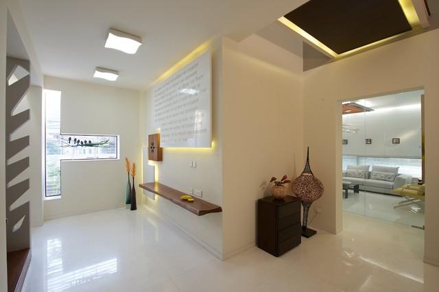 Private residence modern entry other metro by sak for Building foyer design