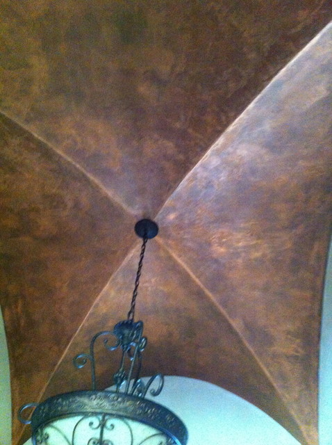 Provencal Plaster Ceiling traditional-entry