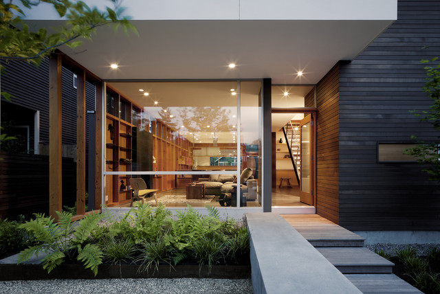 Push_Pull Residence contemporary-entry