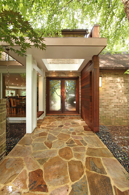 Pyramid portico modern entry dc metro by anthony for Modern portico designs