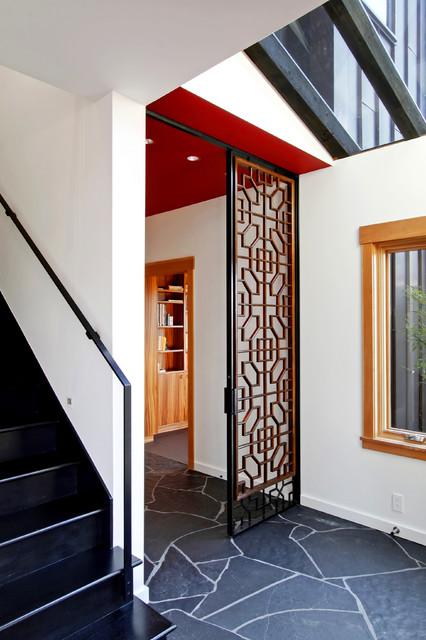 Queen Anne Custom Home modern-entry