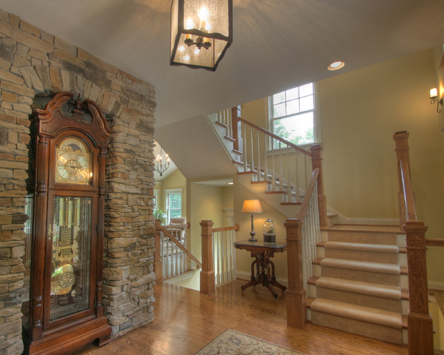 Front Foyer Staircase : Quiet casual home front entryway and stair traditional