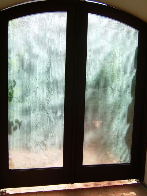 Rain Drizzle Glass Doors Contemporary Entry Other