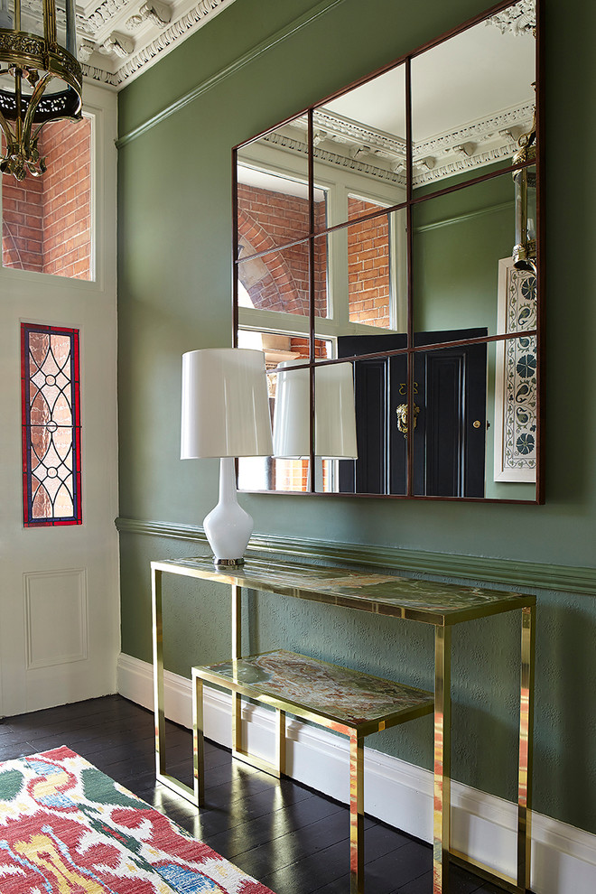 Inspiration for a transitional entryway remodel in Dublin