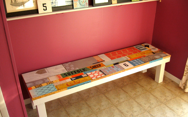 Reclaimed Wood Bench eclectic-entry - Reclaimed Wood Bench - Eclectic - Entry - Milwaukee - By Erin Lang