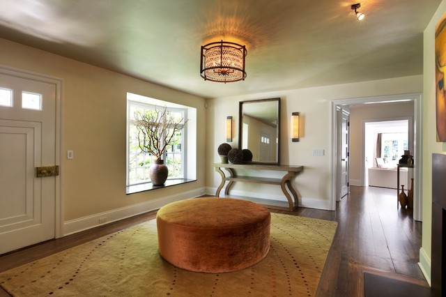 """Redding, CT Project - Tufenkian Carpets """"Songlines Maple"""" contemporary-entry"""