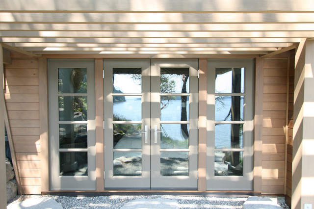 Reflection of Puget Sound and Trellis contemporary-entry