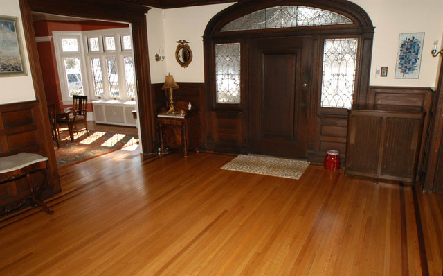 Restored historic flooring traditional entry newark for 151 west broadway 4th floor