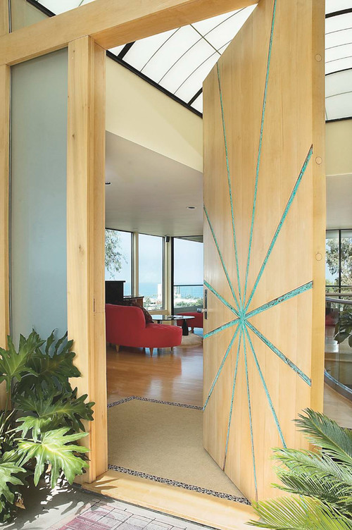 12 seriously cool front door designs that will boost your for Office main door design