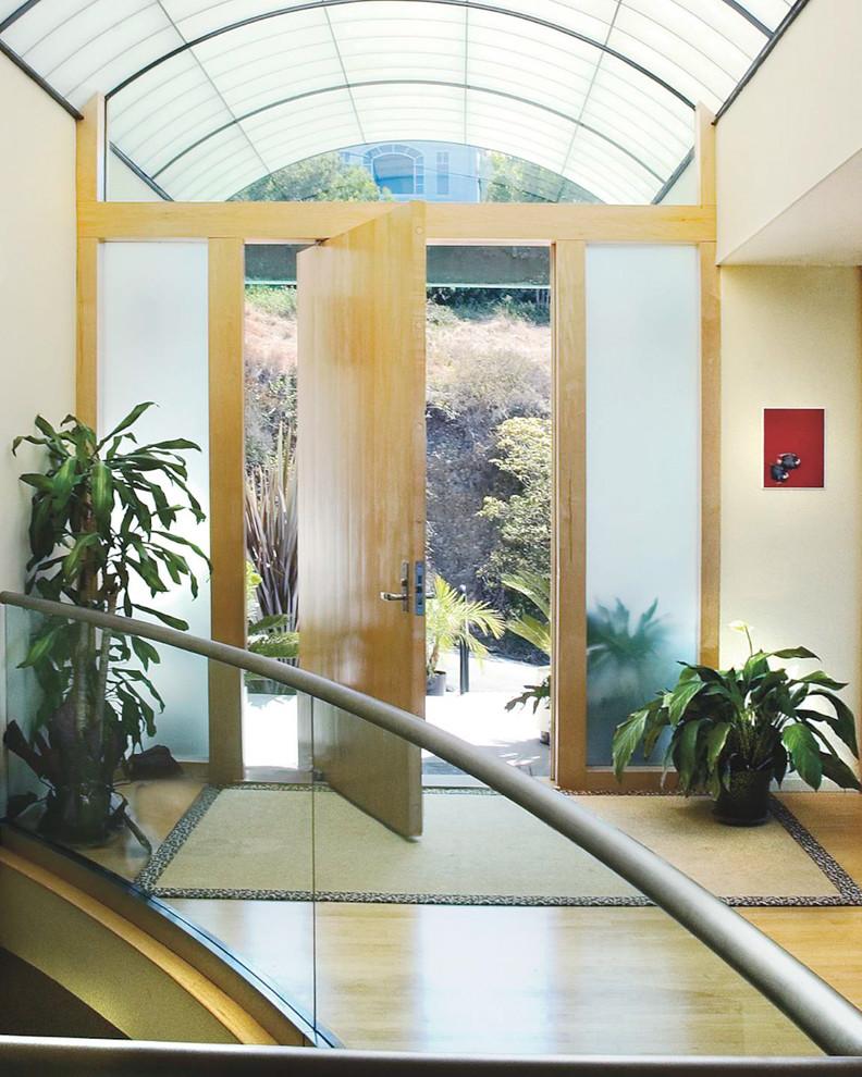Example of a minimalist entryway design in San Diego