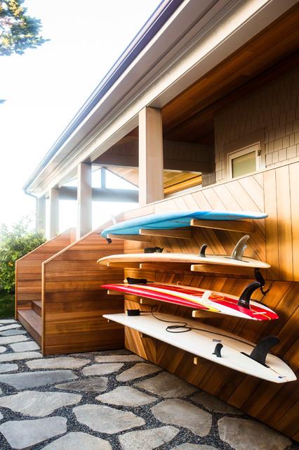 Entryway - beach style entryway idea in Santa Barbara