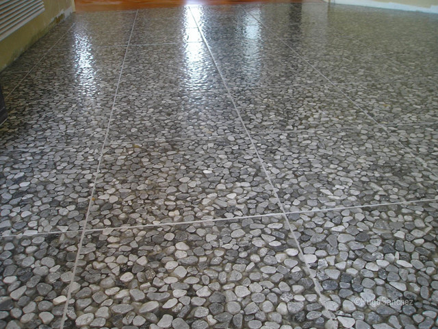 River Stone Tile Floor Modern Entry Montreal By Ceramiques