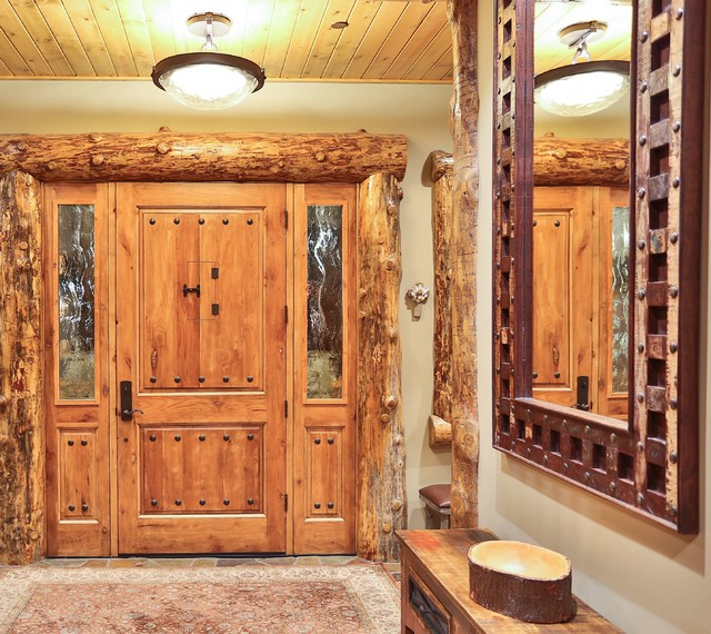 RJE Home - Rustic - Entry - los angeles - by Exciting Lighting and