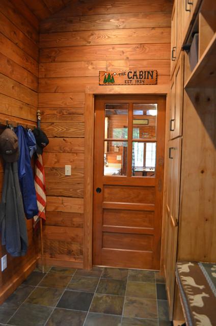 Rustic Cabin Entry Mudroom Rustic Entry Portland