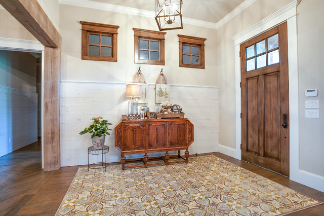Rustic Farmhouse Gallery Entry Dallas By