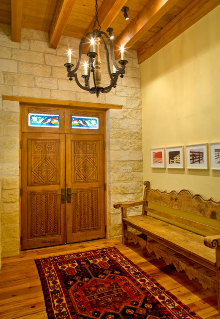 Rustic Mediterranean Ranch Mediterranean Entry Houston By Leedy Interiors