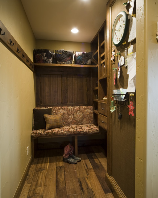 Rustic mudroom traditional entry other metro by for Rustic mudroom ideas