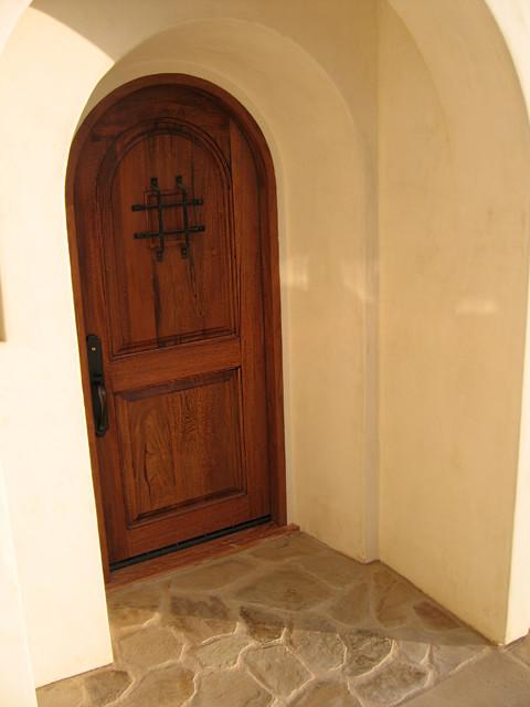 Genial Rustic Spanish Wood Door Entry In Santa Barbara, California  Mediterranean Entry