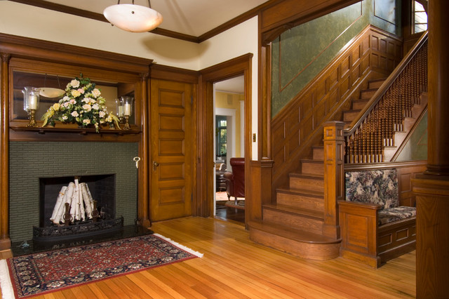 Victorian Mansion Foyer : Rye beach house restoration foyer victorian entry