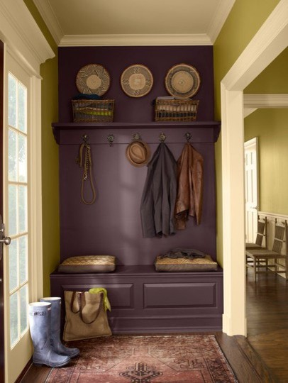 safari-colored entryway traditional entry