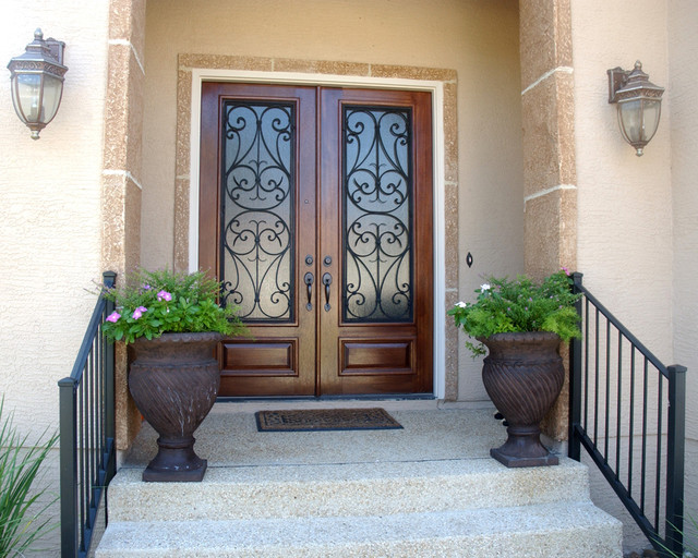 San carlos double door mediterranean entry austin for Houses with double front doors