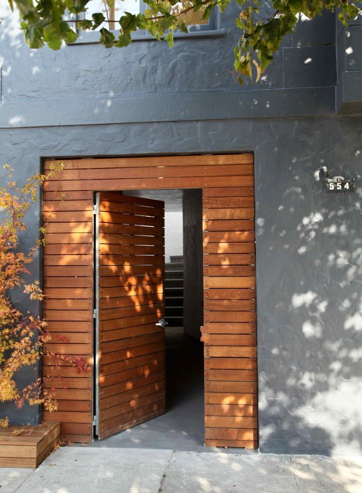 Example of a trendy single front door design in San Francisco