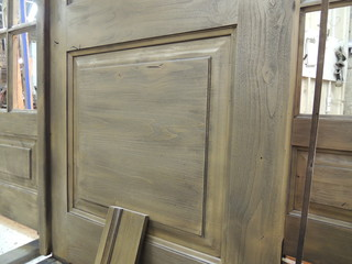 sandblasted wood finish on door - Rustic - charlotte - by Mackay Painting and Finishing
