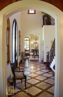 Santa Barbara Entry Hall Mediterranean Entry Santa