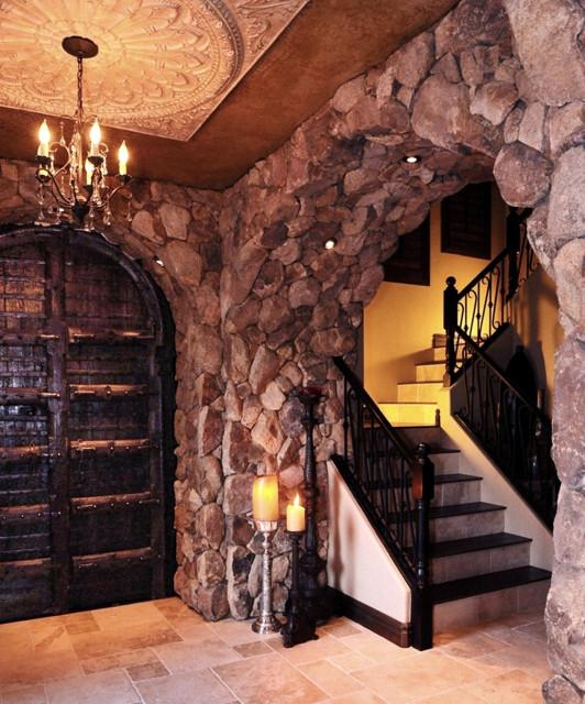 Foyer Interior Questions : Old world santa barbara transitional home main entry