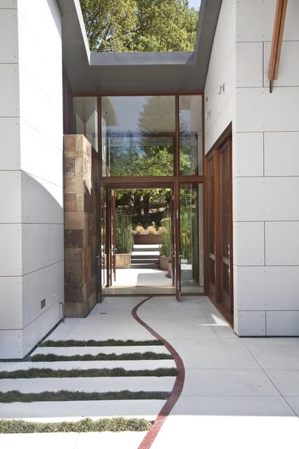 WA Design Architects · Architects U0026 Building Designers. Saratoga Creek  House Contemporary Entrance