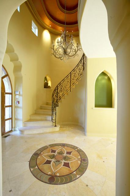 Saratoga Mediterranean Custom Home mediterranean-entry