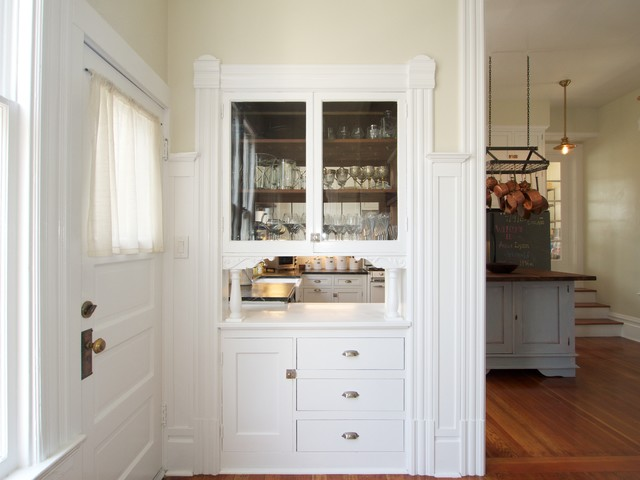 Semi-Custom Kitchen Cabinets in Oakland Transitional Entry, San Francisco