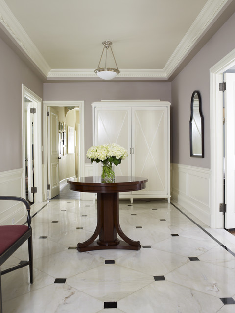 Foyer Flooring Ideas Marble : Serene entry hall traditional new york by