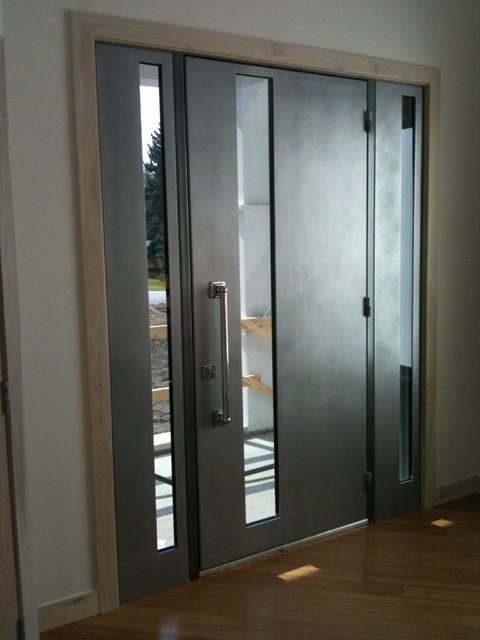 Sguare modern entrance doors by arttig modern front for Front entrance doors
