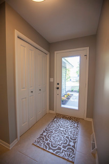 Sherwin Williams Mindful Gray Paint In Entry