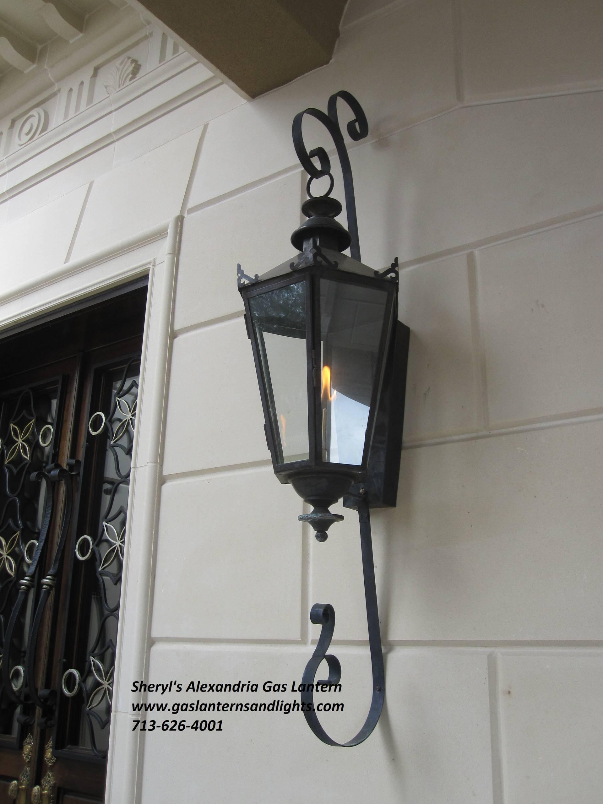 Sheryl's Alexandria Gas Lantern with Dark Patina Finish