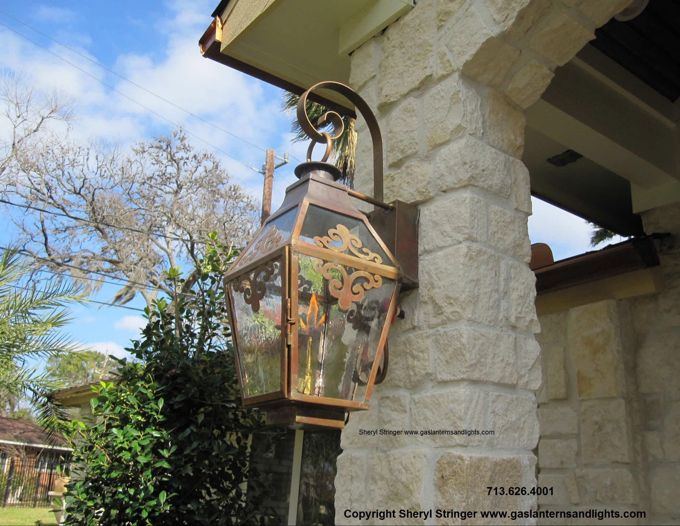 Sheryl's French Gas Lantern with Scrollwork
