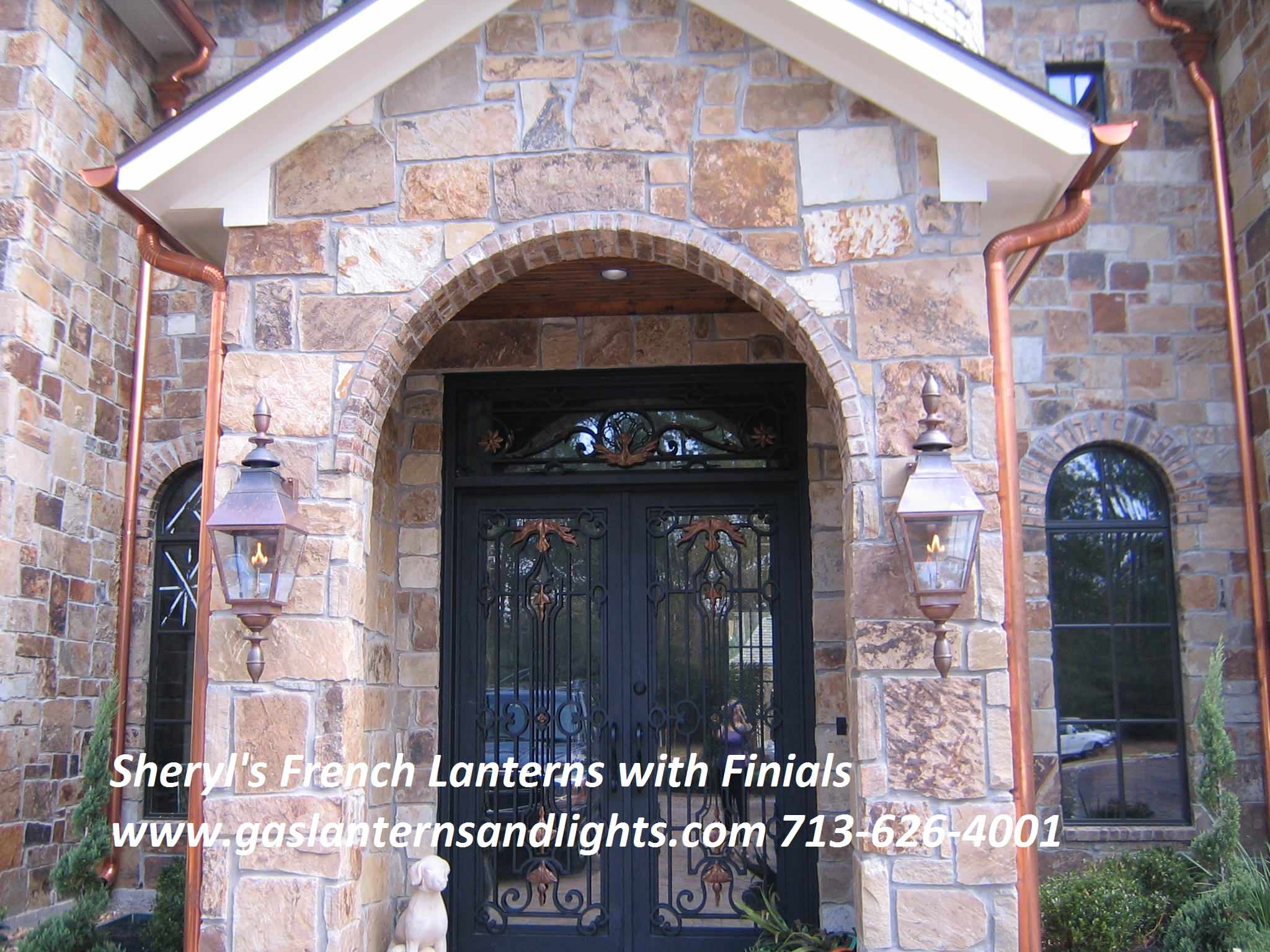 Sheryl's French Gas Lanterns with Finials