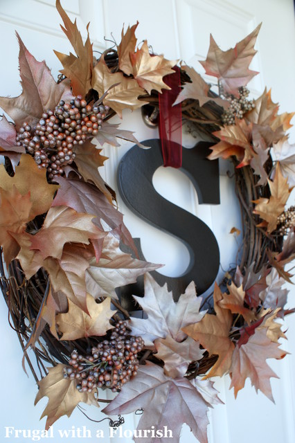 Shimmery Fall Wreath traditional entry