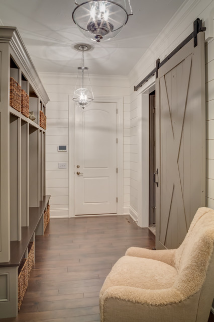 Shiplap Mud Room Farmhouse Entry Cleveland By
