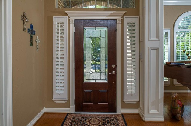 Genial Shutters For Sidelight Windows   Traditional   Entry ...