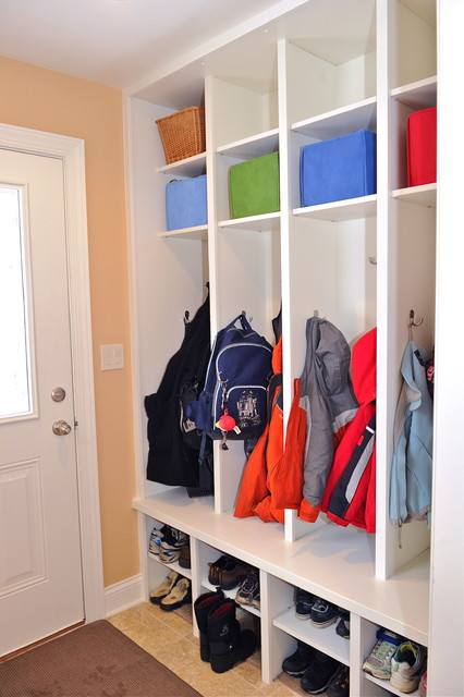 Side Entry Mudroom contemporary entry