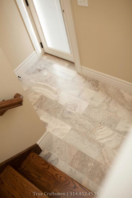 Travertine Foyer Design : Silver travertine entryway traditional entry st